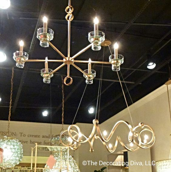 Captivating and sophisticated lighting pendants by Currey & Co. spotted at High Point Market fall 2013 #HPMKT