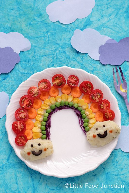 ensalada de arcoirirs, comida divertida