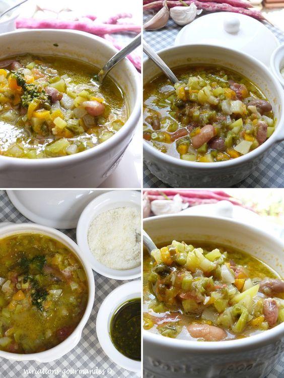Élaboréeavec des légumes de saison, de la fin du printemps au début de l'automne,la soupe au pistou est un véritable délice de la ...