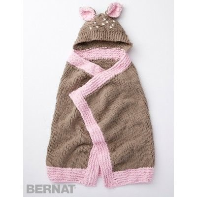 Knitting Pattern Hood With Ears : This hooded blanket is seriously snuggly - knit in Bernat ...