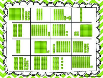 place value bingo using base ten blocks up to 120 bingo places and student. Black Bedroom Furniture Sets. Home Design Ideas