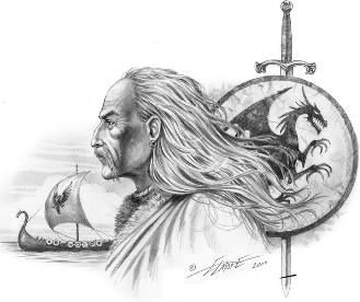 Ivar Ragnarsson (Old Norse: Ívarr; died possibly 873, nicknamed the Boneless (hinn beinlausi), was a Viking leader and by reputation also a berserker. He was a son of the powerful Ragnar Lodbrok, and he ruled an area probably comprising parts of modern-day Denmark and Sweden....In the autumn of 865, with his brothers Halfdan Ragnarsson (Halfdene) and Ubbe Ragnarsson (Hubba), Ivar led the Great Heathen Army in the invasion of the East Anglian region of England.: