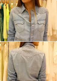 Resultado de imagem para camisas jeans bordadas