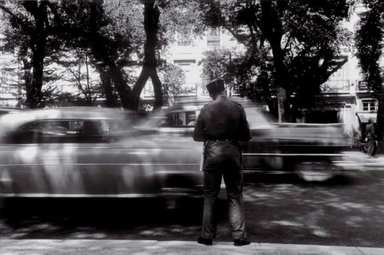 Lisboa, Avenida da Liberdade, 1957 Carlos Afonso Dias Prova fotográfica em gelatina sal de prata 40 × 50 cm Inv. 2912; Adquirido pelo Estado ao artista em 2006.