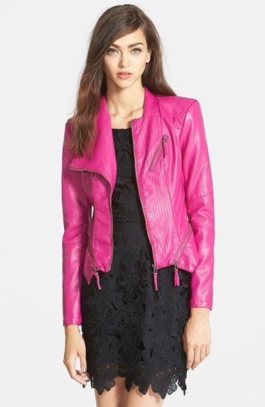 Women's BLANKNYC Faux Leather Jacket | Leather jackets Hot pink