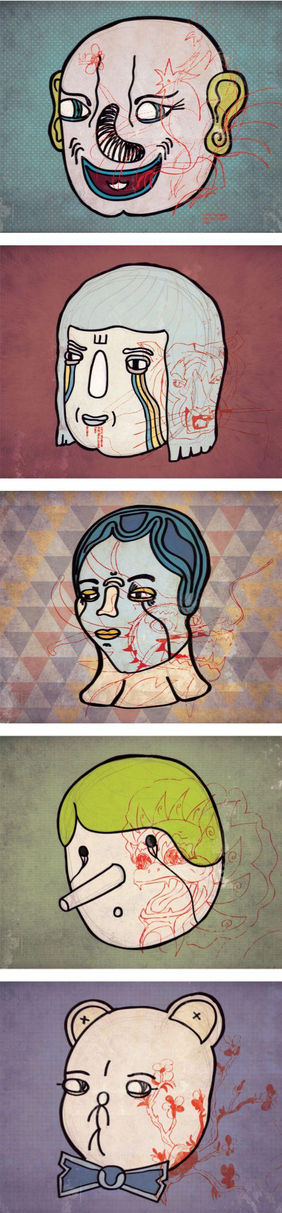 Coma Más Chino - Ilustraciones para Poster Punch #illustration