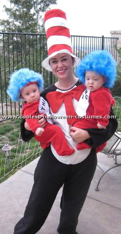 costumes cat in the hat homemade costumes coolest homemade thing 1 and thing 2 - Cat In The Hat Halloween Costume Ideas
