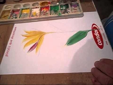 Pintura Gestual - Strelitzia