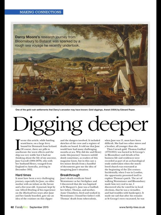 (Blog Post) by Darcy Moore about trying to trace his family ancestry and discover things along the way. Sometimes questions are unanswered and all you can do is keep digging. 11807701_10206834646165361_4111480170759275725_o