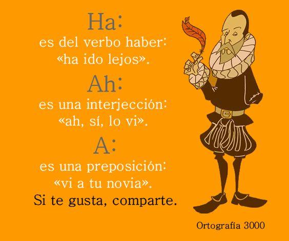 El uso de Ha, Ah y A - Ortografía 3000