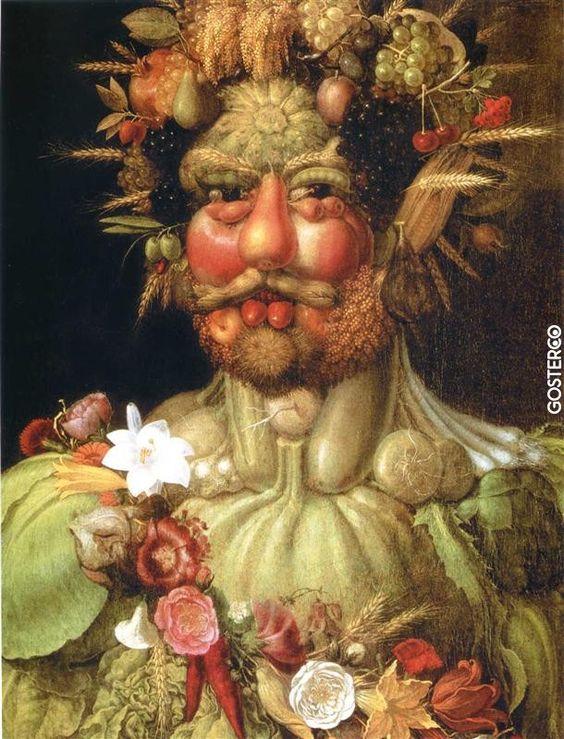 Giuseppe Arcimboldo (d. 1527, Milan – ö. 11 Temmuz 1593, Milan), İtalyan ressam, mimar, sahne tasarımcısı, mühendis ve sanat danışmanı. Resimlerinde meyve, sebze, hayvan, kitap gibi birçok nesneyi, insan portrelerini andıracak şekilde düzenlemiştir. Çift imgeli bu resimler, 20. yüzyılda başta Salvador Dali olmak üzere birçok gerçeküstücü ressam tarafından örnek alınmıştır.