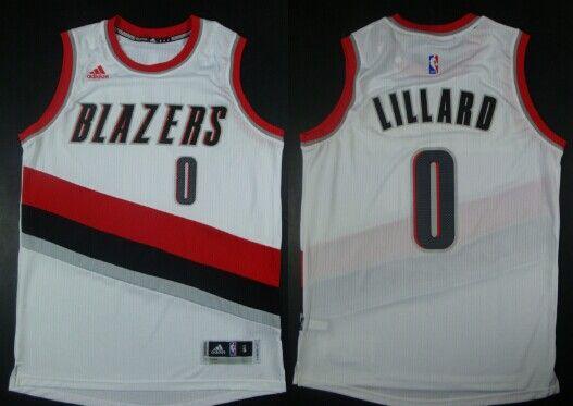 91fcd63b7 ... Portland Trail Blazers Jersey Portland Trail Blazers 0 Damian Lillard  Revolution 30 Swingman 2014 New White 2014 2015 Adidas NBA ...