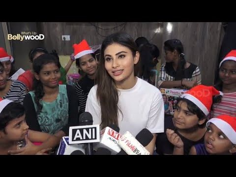 Beautiful Mouni Roy Becomes Santa For Children Youtube Bollywood News Children Bollywood