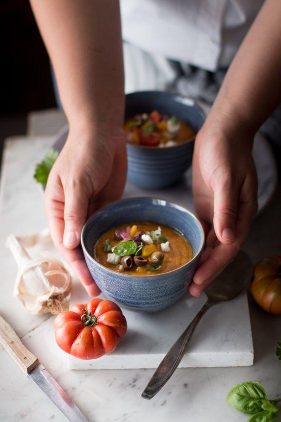 Zuppa fredda di peperoni gialli, pomodori e feta | Smile, Beauty and More