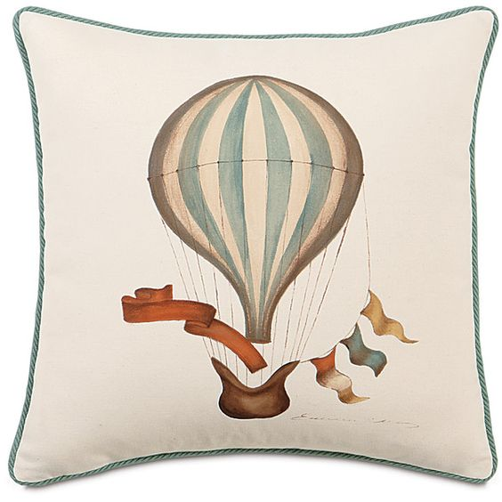 Eastern Accents Kai Hand Painted Balloon Cord Polyester Throw Pillow ($173) ❤ liked on Polyvore featuring home, home decor, throw pillows, pillow, handmade home decor, square throw pillows, square pillow insert and polyester throw pillows