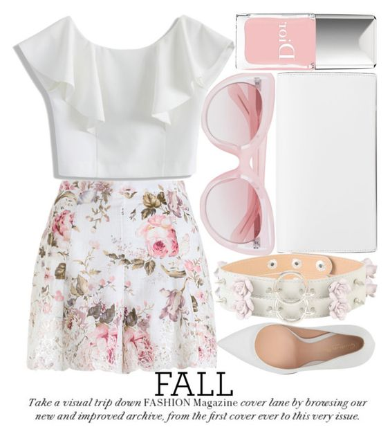 """I LOVE PARIS IN THE FALL #2"" by noraaaaaaaaa ❤ liked on Polyvore featuring Erdem, Christian Dior, Zimmermann, Chicwish, Gianvito Rossi and Christian Louboutin"