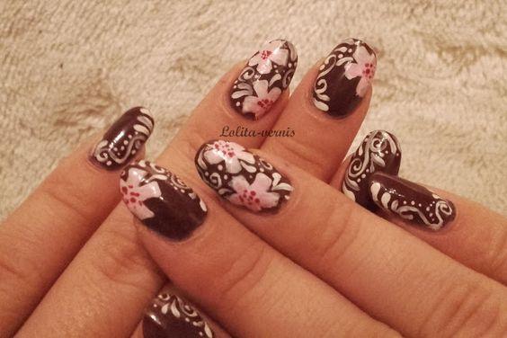 Lolita-Vernis: [Nail-art #17]: Couleurs chaudes pour un hiver froid!