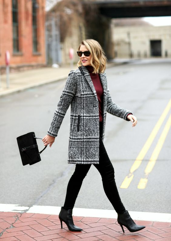 love the plaid coat!