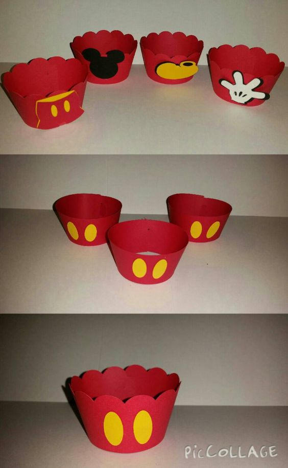 Mickey Mouse Cupcake Holders by VannessasCreations on Etsy