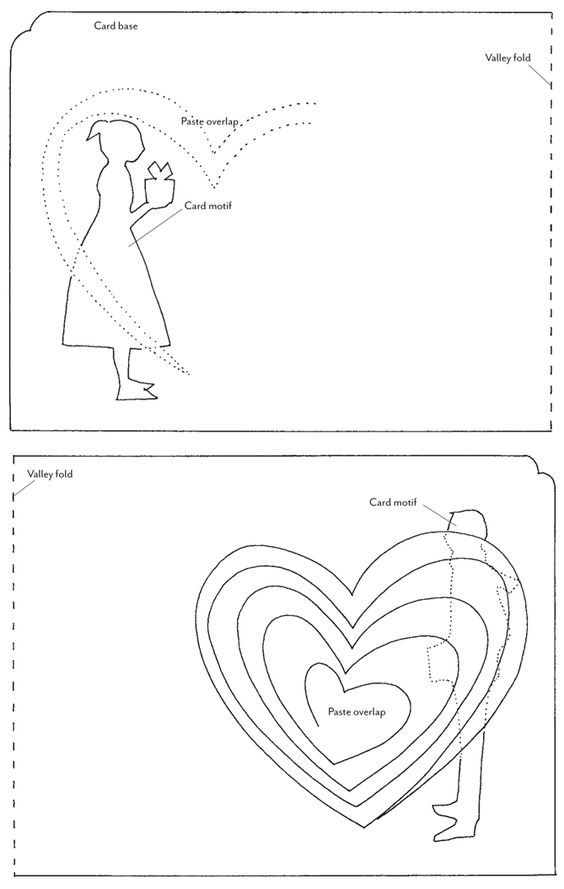 HowTuesday PopUp Valentines  Card templates Template and Kirigami