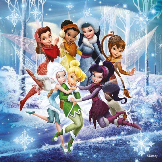 Disney fairies - Tinkerbell, Periwinkle, Rosetta, Iridessa, Silvermist, Fawn, Vidia