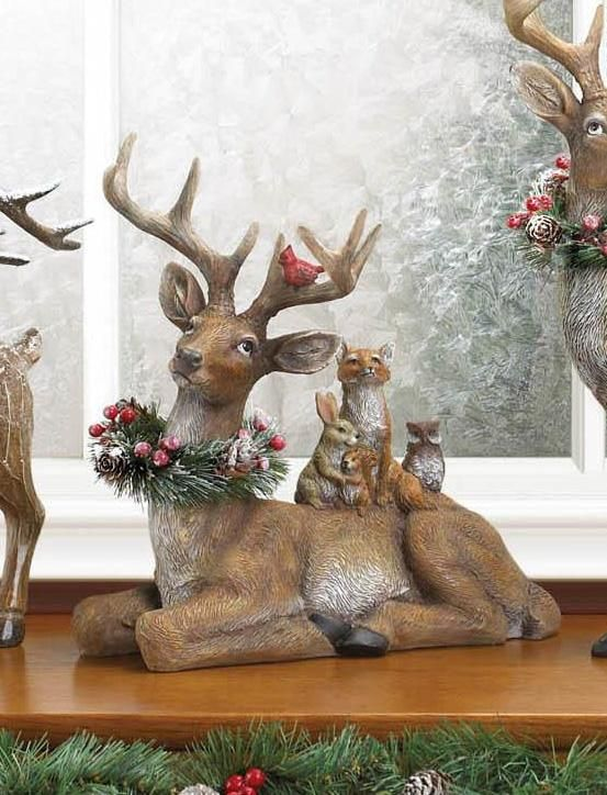 "/""Reindeer Sitting/"" Austrian Crystal Figurine NEW"