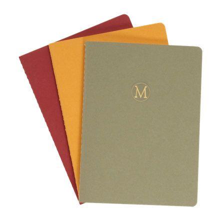 Connor Monogrammed 'M' Notebook Set Sale up to 70% off at Barneyswarehouse.com