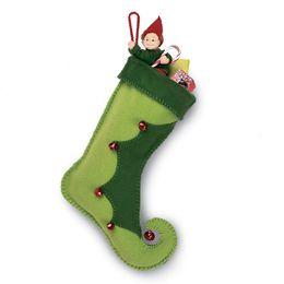 DIY Elf christmas stocking (Una linda botita de elfo navideño)