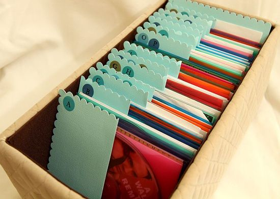DVD storage solution from the I-Heart Organizing blog