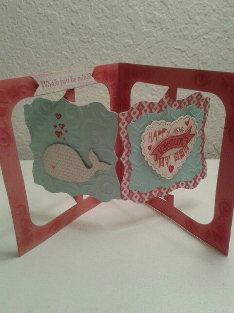 KB Fancy Label Accordion die with Stampin' Up! supplies.