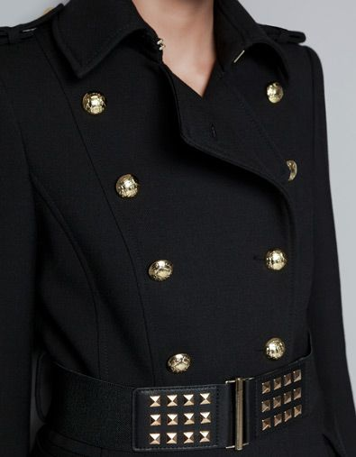BELTED MILITARY OVERCOAT - Coats - Woman - ZARA