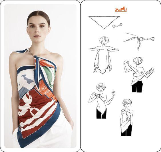Bonjour , Aujourd'hui je vous propose une nouvelle façon de porter le classique foulard carré , j'espère que ces idées vous plairont et vous donneront envie de sortir ces foulards ( si vous en avez ) du fond des placards , et commencer à les porter autrement......