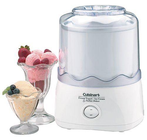 Cuisinart ICE-20 Automatic 1-1/2-Quart Ice-Cream Maker, White