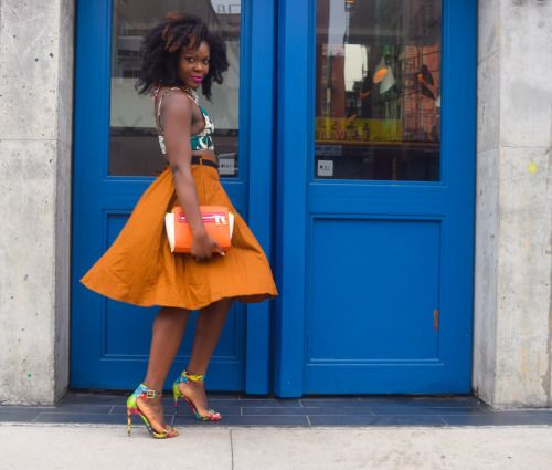 Colorful and breezy street style from Oyinkan on BefittingStyle.com