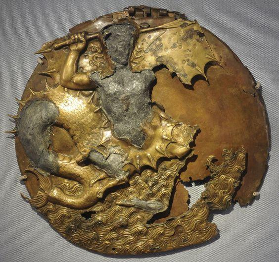 Mirror with Scylla, 4th - 2nd century B.C. Russia, Saint-Petersburg, The State Hermitage Museum