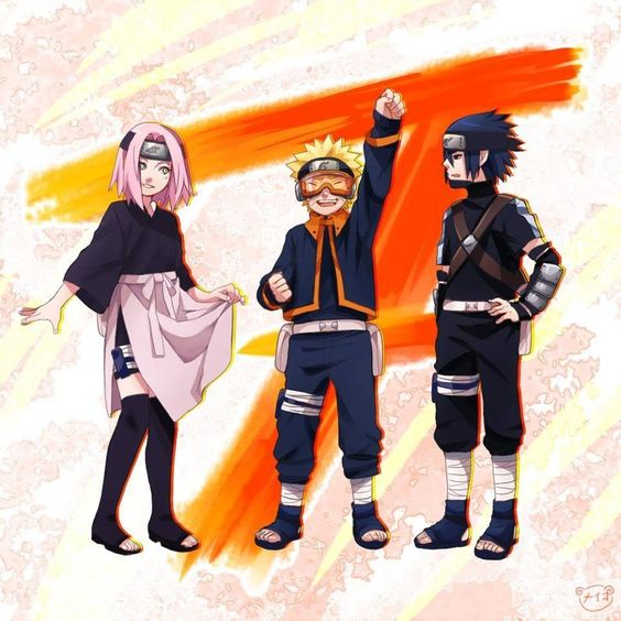 Team 7 Dress-up! Sakura = Rin Naruto = Obito Sasuke