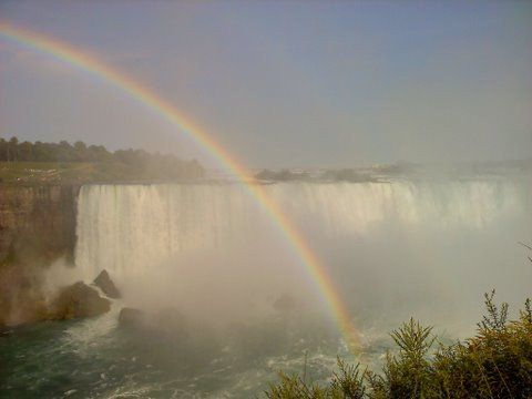 Niagra Falls, Chris and I were in AWE.