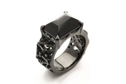 Black silver ring by Holloow