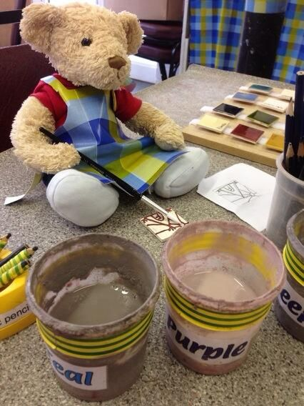 """E is for EDUCATION - """"Anyone can learn how to make a tile"""" (via Tileworkshops on Twitter) #MuseumABC"""