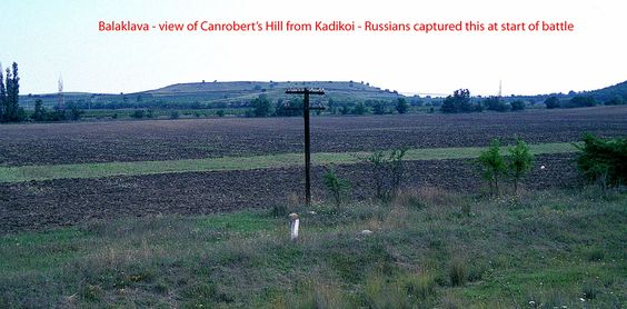 View of Canrobert's Hill from Kadikoi - Russians captured this at beginning of the battle and held it.