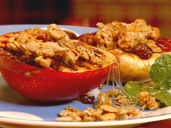 Grilled Peaches with Granola recipe from Robin Miller via Food Network