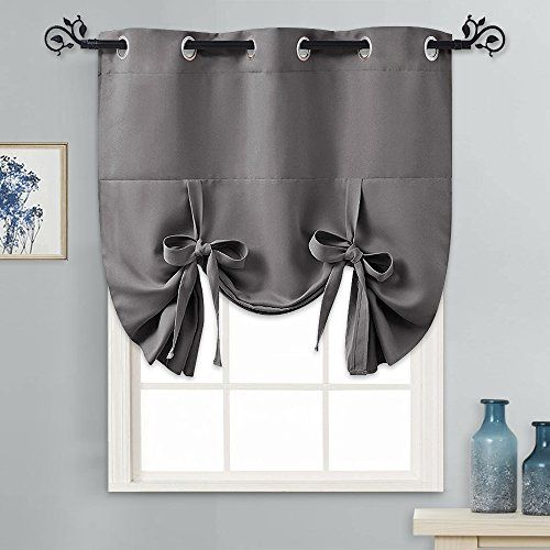 Pony Dance Tie Up Shades For Small Windows Thermal Insulated Energy Efficient Light Block Blackout Curt Small Curtains Tie Up Curtains Bathroom Window Curtains