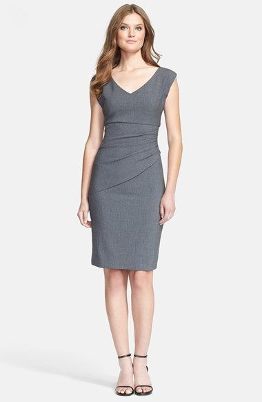 Diane von Furstenberg 'Bevin' Ruched Woven Sheath Dress available at #Nordstrom