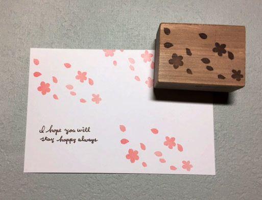 桜 Stamp 5点set スタンプ 吹雪 便箋
