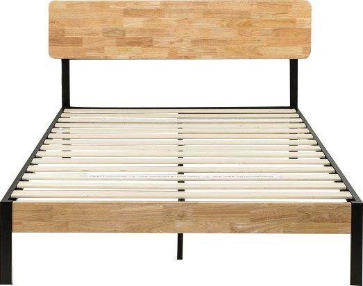 Ursula Platform Bed Light Wood Bed Upholstered Platform Bed Platform Bed