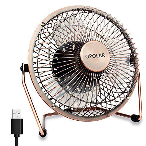 Opolar 6 Inch Desktop Usb Fan Usb Powered Personal Table Fan Mini Cooling Fan Small Desk Fan Copper Desk Fan Small Desk Fan Small Fan