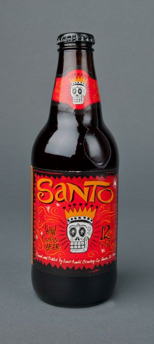 ST. ARNOLD SANTO is a black Kölsch, which technically doesn't exist as a style, but this is as close as we can come to describing it.  Essentially it is brewed using a Kölsch recipe with the addition of Munich and black malt.  It is light bodied and floral yet with a distinct dark malt flavor.