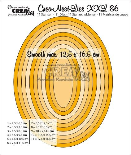Crea Nest Lies Xxl Stansen Dies No 86 Gladde Ovalen Halve Cm Smooth Ovals Half Cm Lie Pie Chart Nest