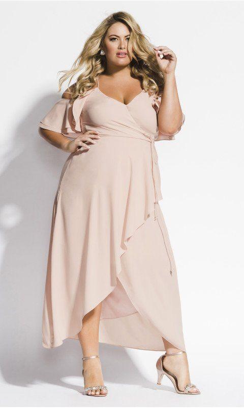 Miss Jessica Maxi Dress - Ballet Pink | Floral chiffon maxi ...