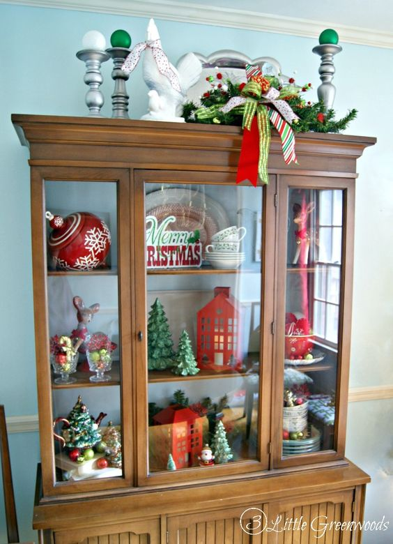 home tours christmas decorating ideas and china cabinets